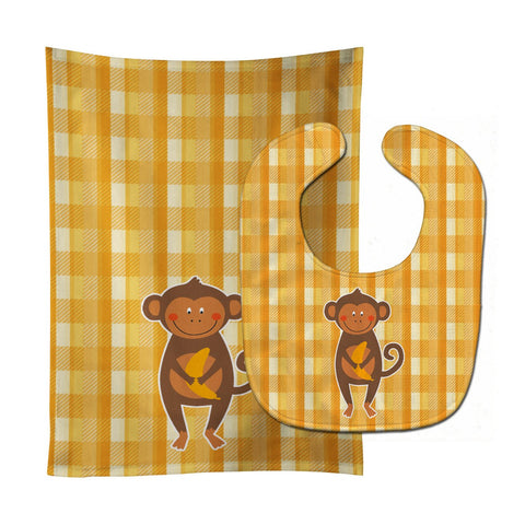 Buy this Monkey Business Baby Bib & Burp Cloth BB6753STBU