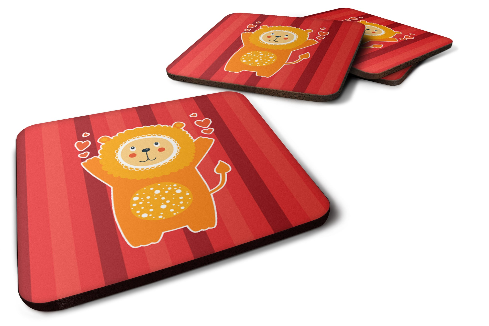 Buy this Lion Love Foam Coaster Set of 4 BB6754FC