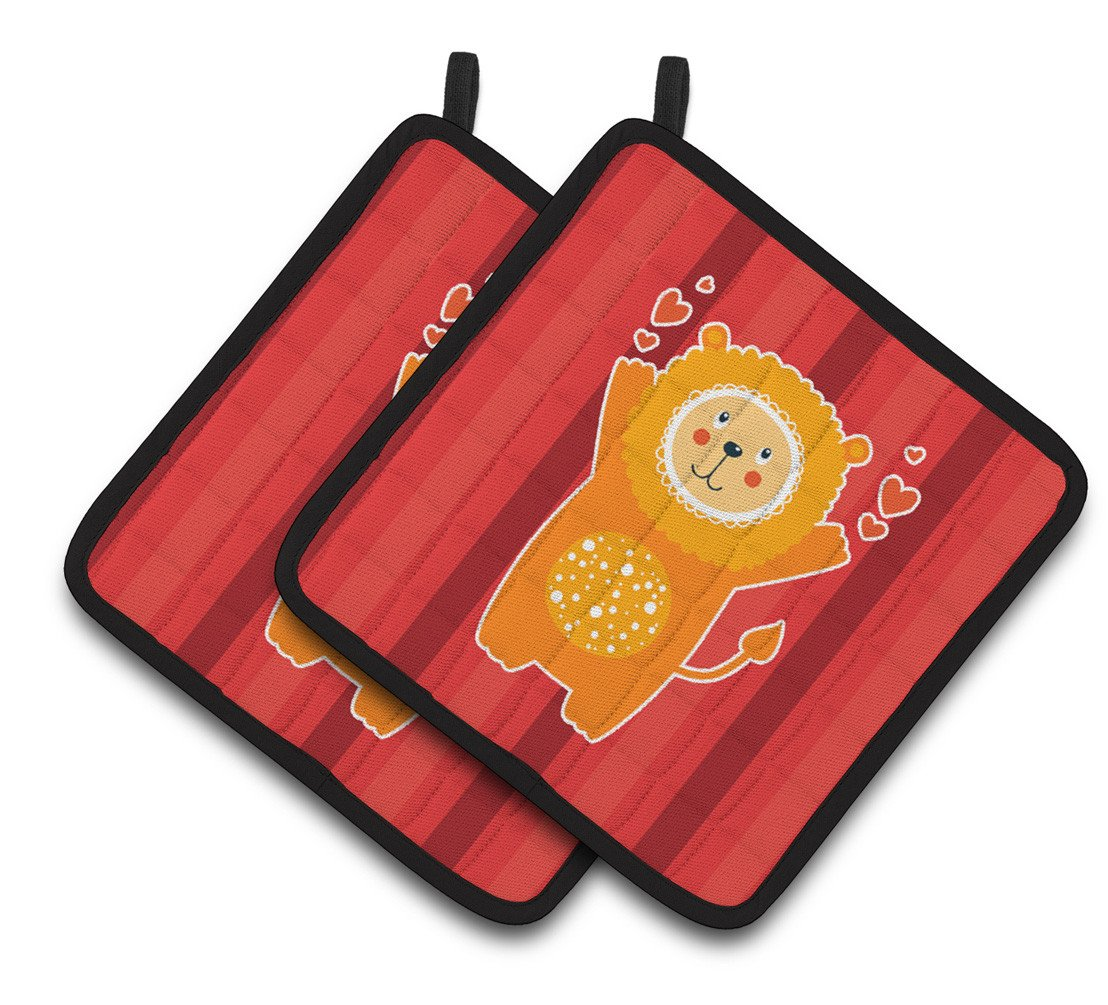 Buy this Lion Love Pair of Pot Holders BB6754PTHD