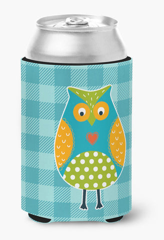 Buy this Owl on Blue Plaid Can or Bottle Hugger BB6755CC