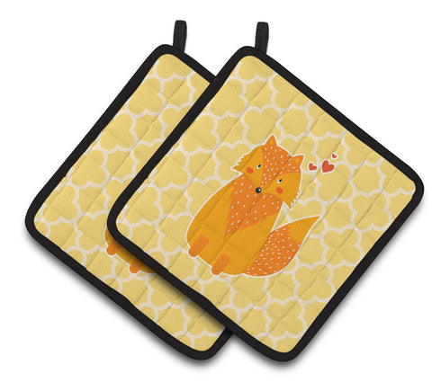 Buy this Foxy Love Pair of Pot Holders BB6758PTHD