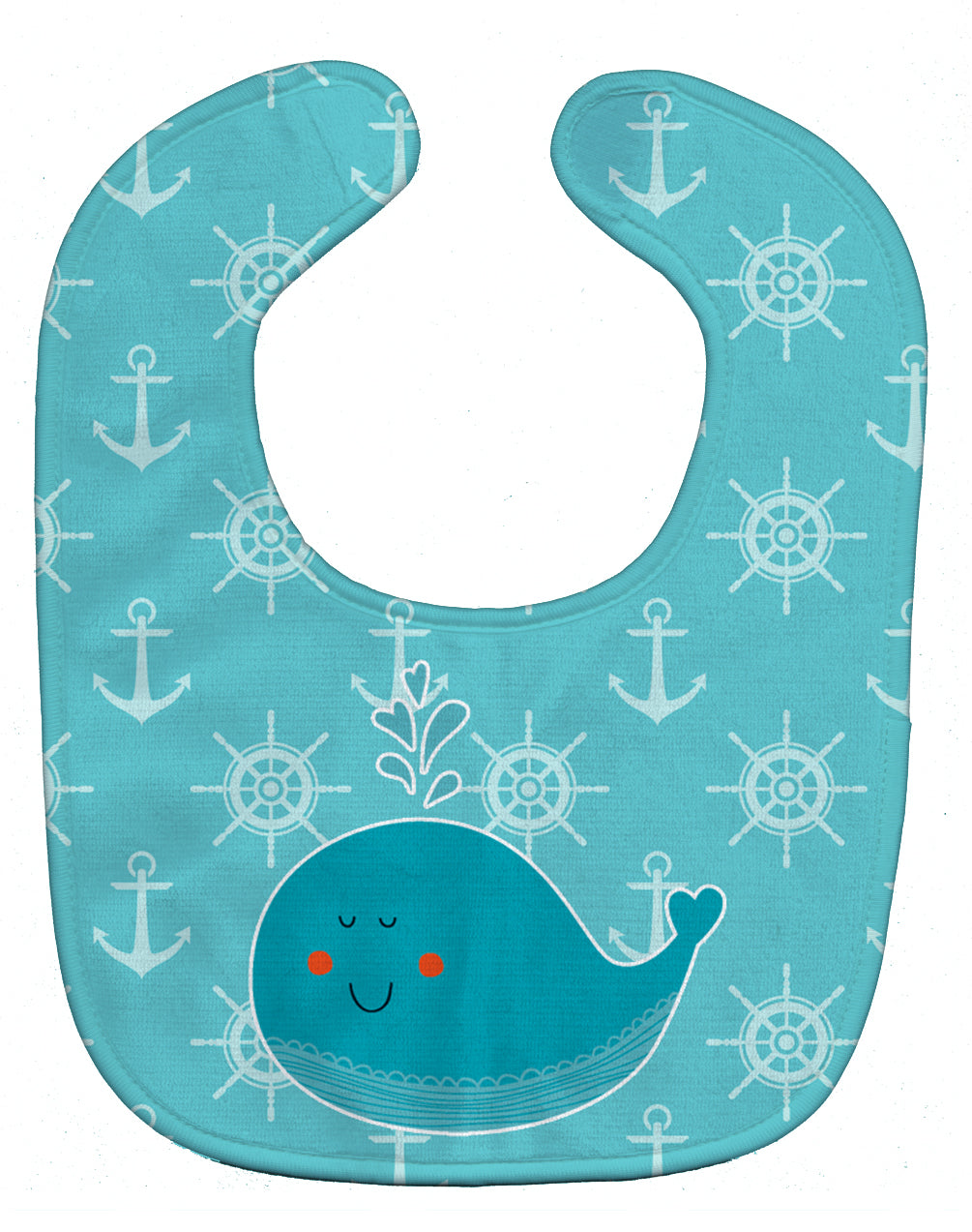 Whale with Anchors Baby Bib BB6765BIB by Caroline's Treasures