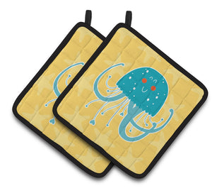 Buy this Jellyfish Pair of Pot Holders BB6767PTHD