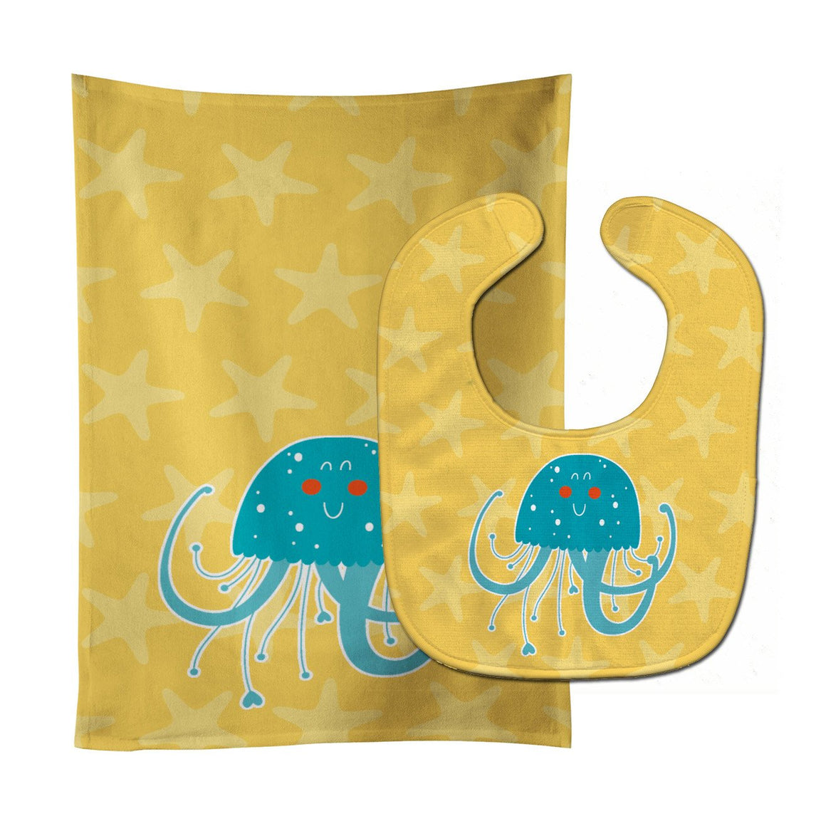 Buy this Jellyfish Baby Bib & Burp Cloth BB6767STBU