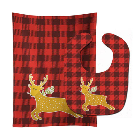 Buy this Deer Baby Bib & Burp Cloth BB6773STBU