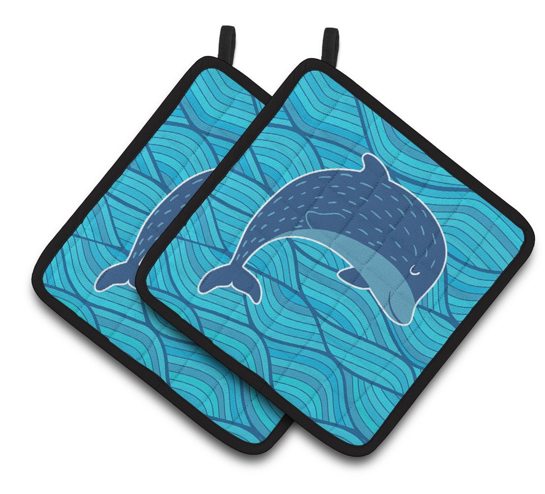 Buy this Dolphin Pair of Pot Holders BB6781PTHD