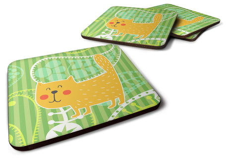 Buy this Cat on Paisley Foam Coaster Set of 4 BB6785FC