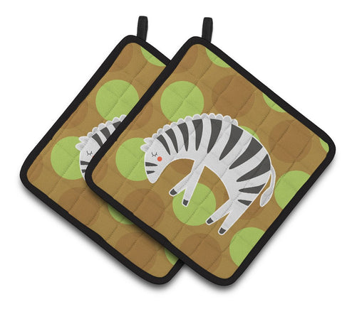 Buy this Zebra Pair of Pot Holders BB6787PTHD