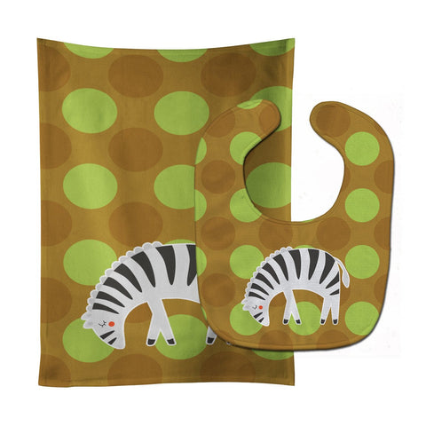 Buy this Zebra Baby Bib & Burp Cloth BB6787STBU