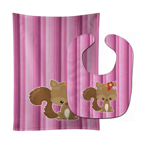Buy this Squirrel Baby Bib & Burp Cloth BB6793STBU