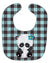 Panda on Plaid Baby Bib BB6800BIB by Caroline's Treasures