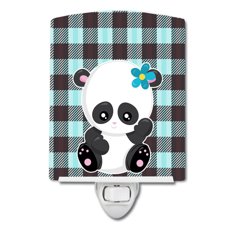 Buy this Panda on Plaid Ceramic Night Light BB6800CNL