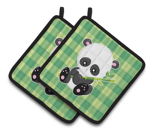 Buy this Panda Lucky Bamboo Pair of Pot Holders BB6801PTHD