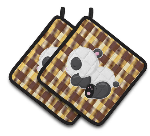 Buy this Panda Naptime Pair of Pot Holders BB6804PTHD