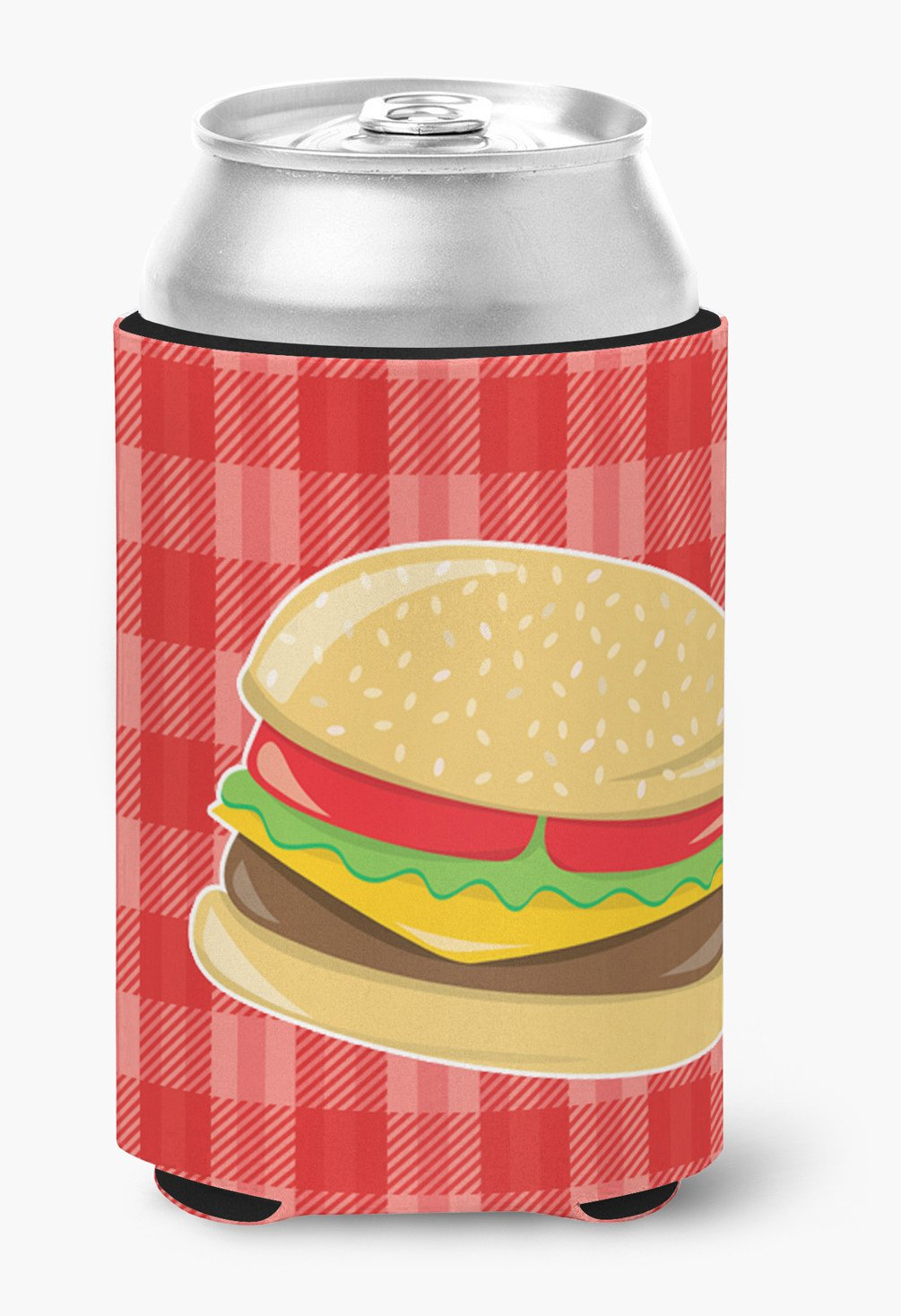 Hamburger Plaid Can or Bottle Hugger BB6812CC by Caroline's Treasures