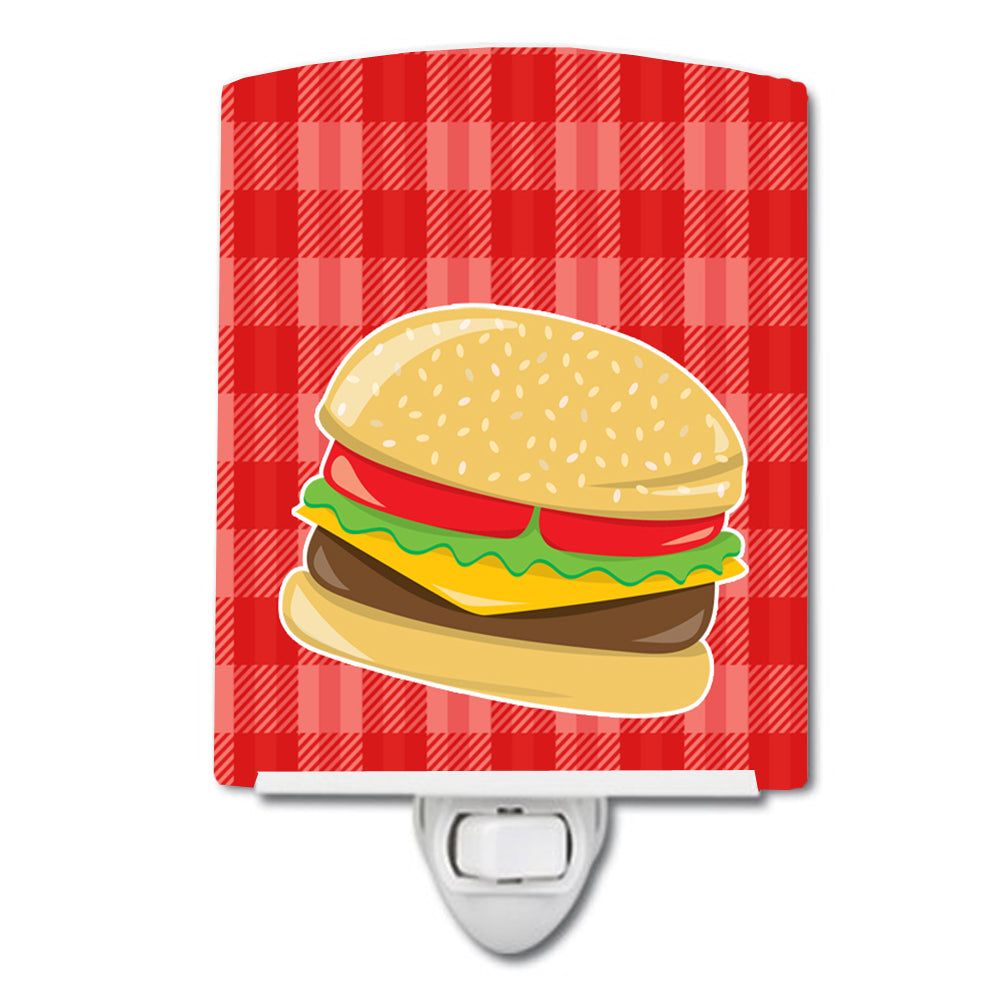 Hamburger Plaid Ceramic Night Light BB6812CNL by Caroline's Treasures