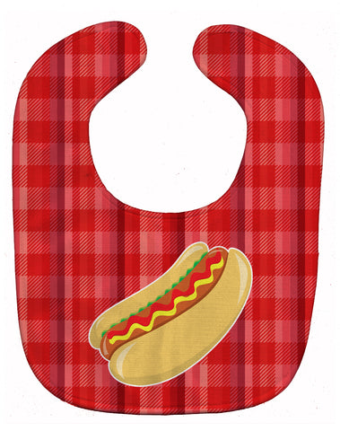Buy this Hot Dog Plaid Baby Bib BB6813BIB
