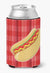 Hot Dog Plaid Can or Bottle Hugger BB6813CC by Caroline's Treasures