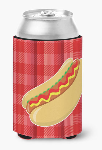 Buy this Hot Dog Plaid Can or Bottle Hugger BB6813CC