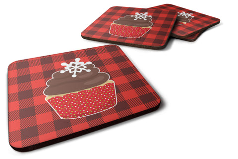 Buy this Christmas Cupcake Foam Coaster Set of 4 BB6817FC