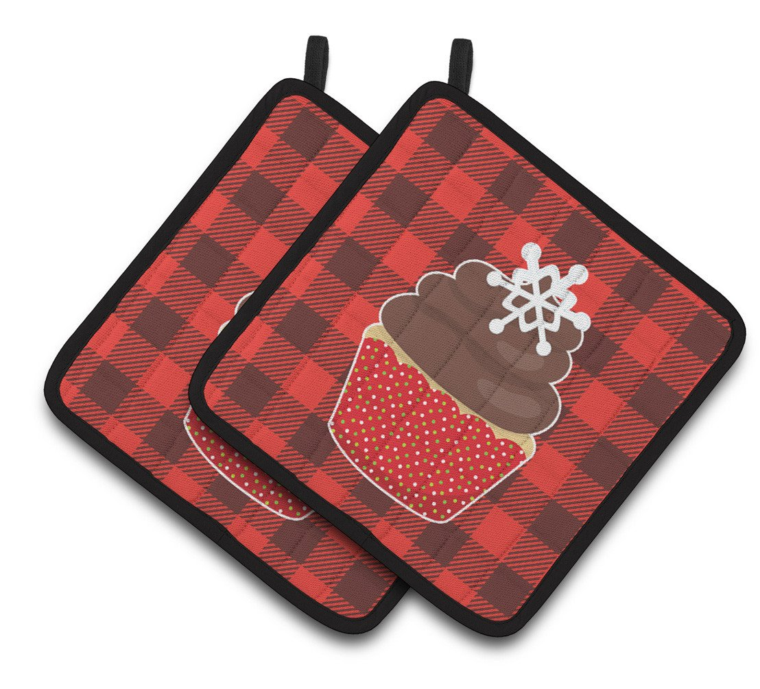 Christmas Cupcake Pair of Pot Holders BB6817PTHD by Caroline's Treasures
