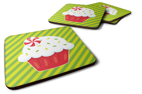 Buy this Christmas Pepermint Cupcake Foam Coaster Set of 4 BB6819FC