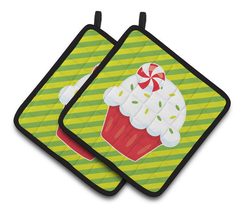 Buy this Christmas Pepermint Cupcake Pair of Pot Holders BB6819PTHD