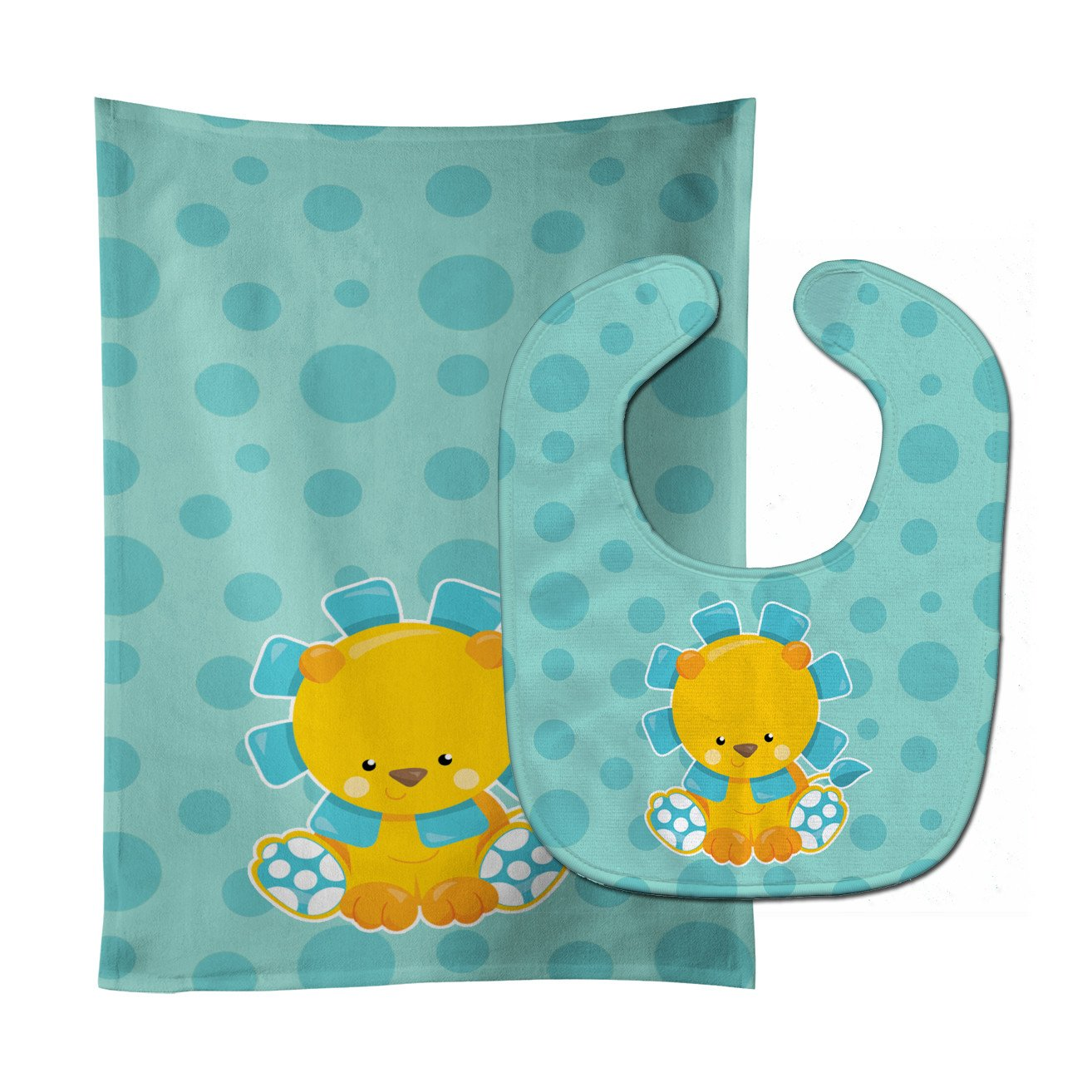 Buy this Boy Lion Baby Bib & Burp Cloth BB6823STBU