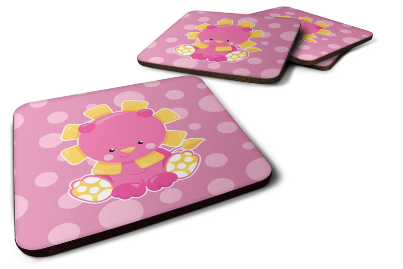 Buy this Girl Lion Foam Coaster Set of 4 BB6829FC