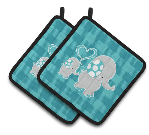 Buy this Mommy and Baby Elephant Pair of Pot Holders BB6834PTHD