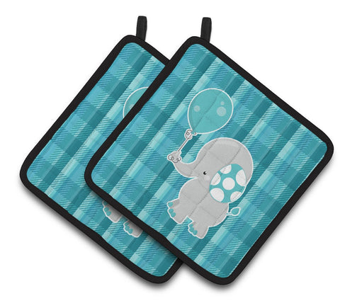 Buy this Elephant with Balloon Pair of Pot Holders BB6835PTHD