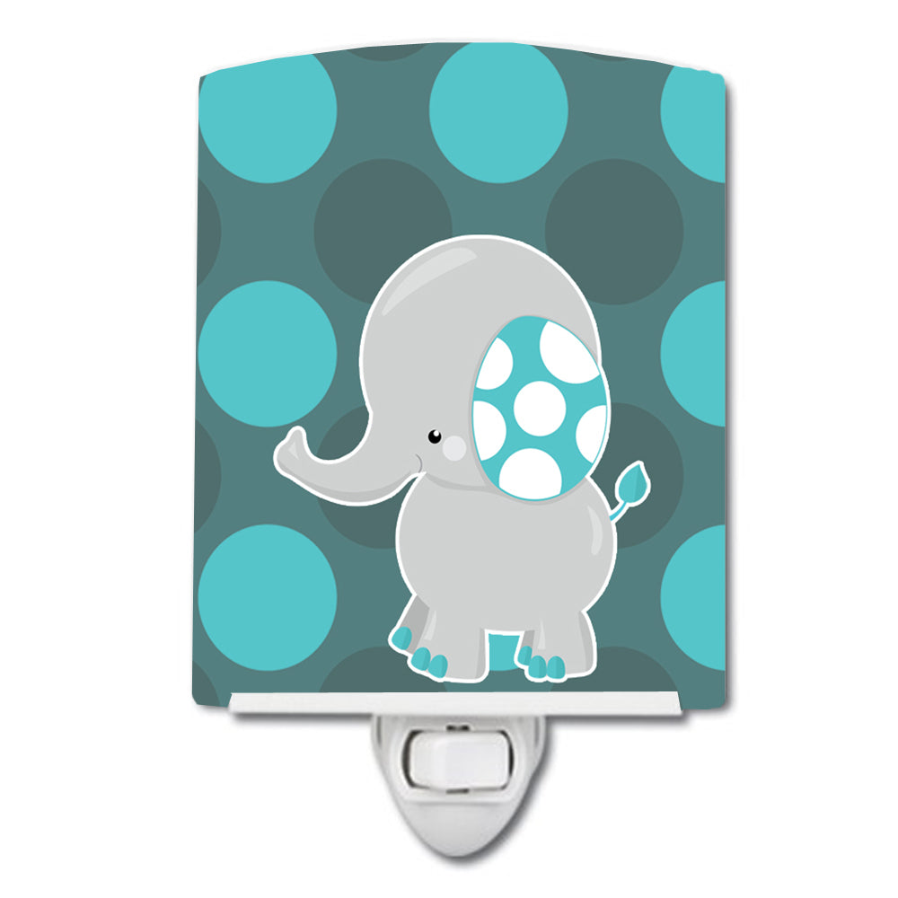 Buy this Polkadot Grey Elephant Ceramic Night Light BB6837CNL