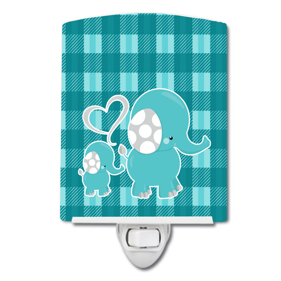 Buy this Plaid Momma and Baby Elephant Ceramic Night Light BB6839CNL