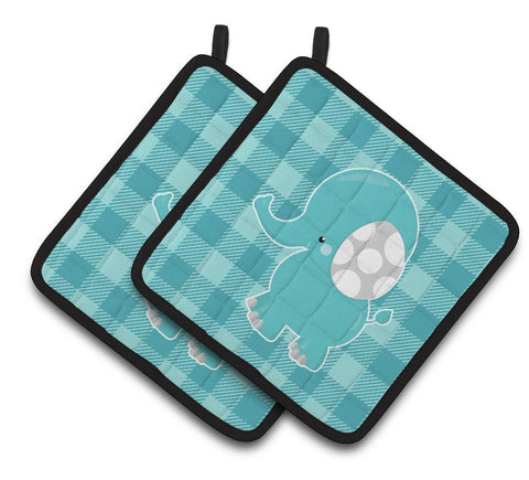 Buy this Striped Elephant Pair of Pot Holders BB6841PTHD