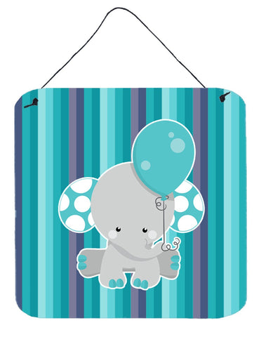 Buy this Grey Elephant with Balloon Wall or Door Hanging Prints BB6842DS66
