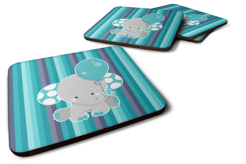 Buy this Grey Elephant with Balloon Foam Coaster Set of 4 BB6842FC