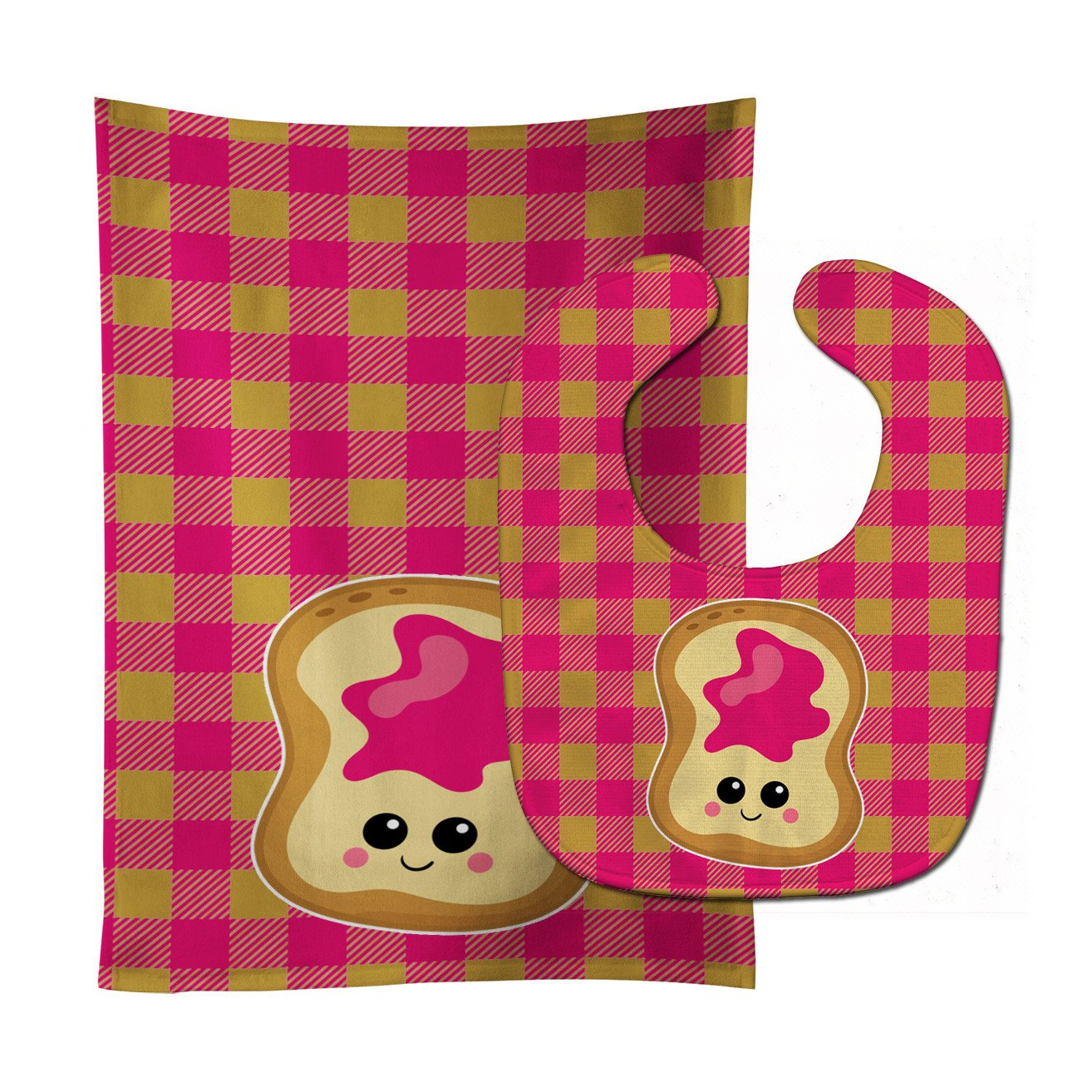 Jelly Toast Baby Bib & Burp Cloth BB6844STBU by Caroline's Treasures