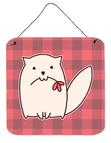 Buy this Cat Pink Plad Wall or Door Hanging Prints BB6854DS66