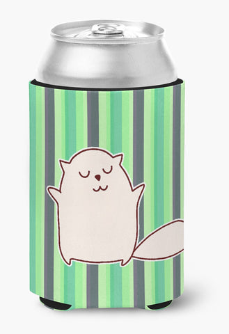 Buy this Cat Green Stripes Can or Bottle Hugger BB6856CC