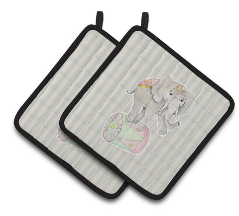 Buy this Circus Elephant Pair of Pot Holders BB6859PTHD