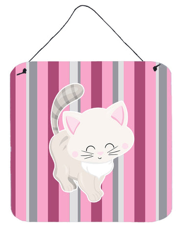 Buy this Kitten Cat Pink and Gray Wall or Door Hanging Prints BB6878DS66