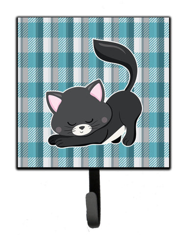 Buy this Little Black Cat Kitten Leash or Key Holder BB6881SH4