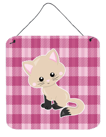 Buy this Kitten Cat on Pink Wall or Door Hanging Prints BB6886DS66