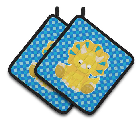 Buy this Triceratops Dinosaur Pair of Pot Holders BB6894PTHD
