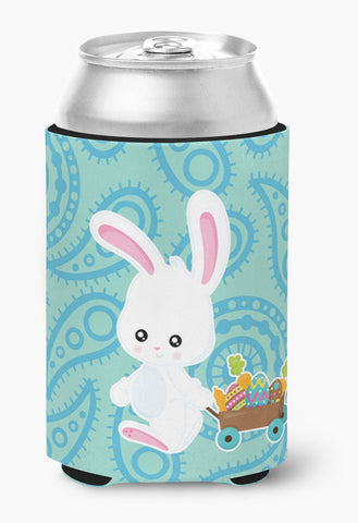 Buy this Easter Rabbit Paisley Blue Can or Bottle Hugger BB6898CC