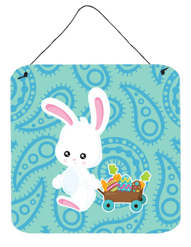 Buy this Easter Rabbit Paisley Blue Wall or Door Hanging Prints BB6898DS66