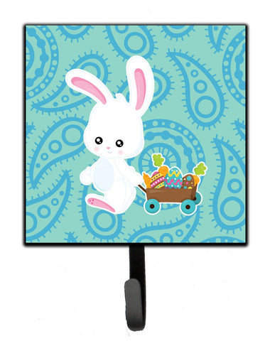 Buy this Easter Rabbit Paisley Blue Leash or Key Holder BB6898SH4