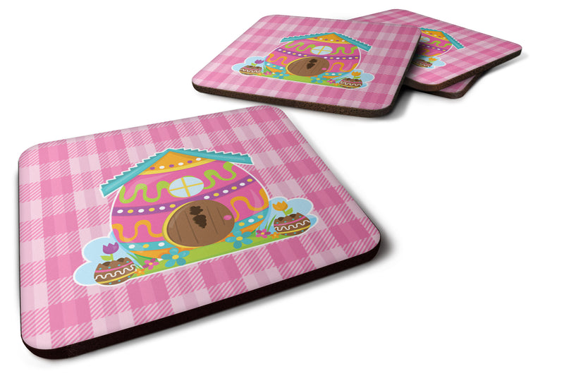 Buy this Set of 4 Easter Rabbit's House Foam Coasters Set of 4