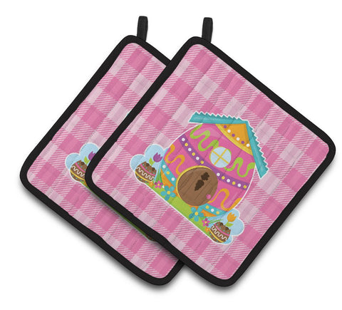 Buy this Easter Rabbit's House Pair of Pot Holders BB6899PTHD