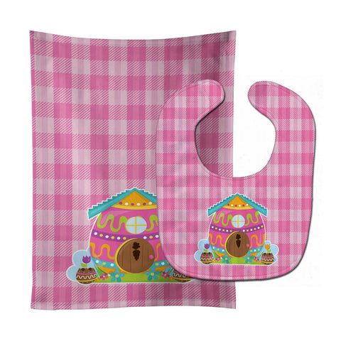 Buy this Easter Rabbit's House Baby Bib & Burp Cloth BB6899STBU